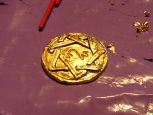 Amulett Blattgold