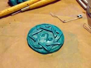 Amulett aus Fimo