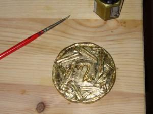 Larp-Amulett-Gold
