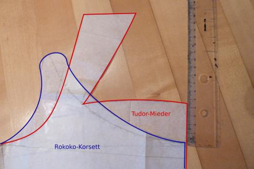 Rokoko-Kleid Teil 2 – Schnittentwurf Rokoko Korsett